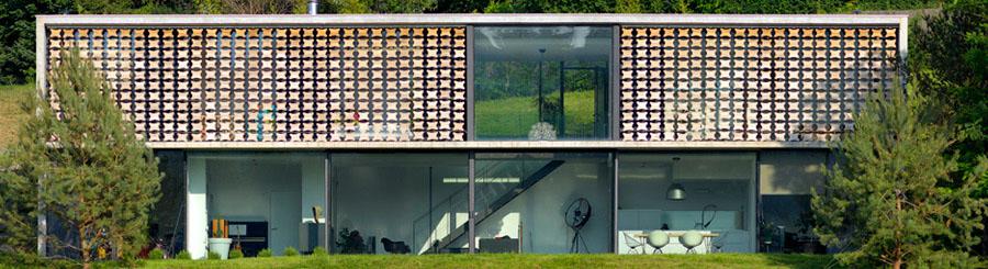 Grands vitrages de la maison biscuit à Lyon - Rhone 69 - Pierre Minassian