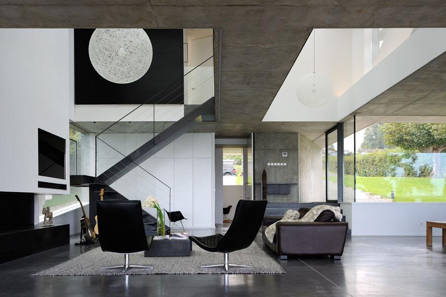 Maison contemporaine acier brut lac leman