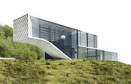 maison contemporaine en structure metallique a evian