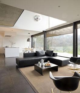 Maison contemporaine intérieur réalisé par l'architecte Pierre Minassian