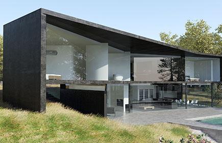 Pierre Minassian architecture moderne béton noire