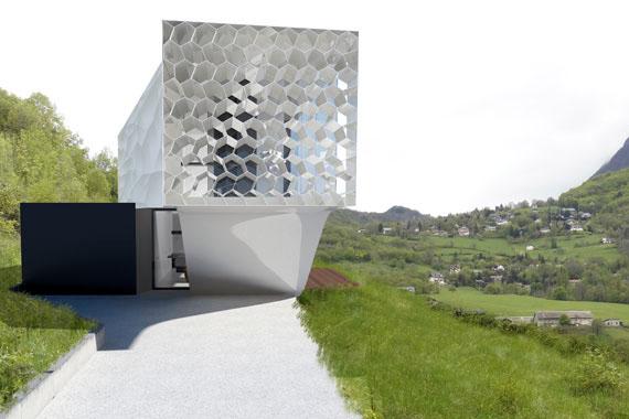Maison moderne structure métallique par architecte lyon Pierre Minassian