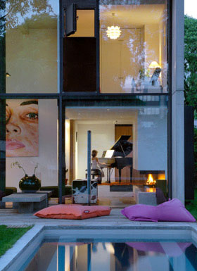 Maison seven grands vitrages imaginée par un architecte annecy