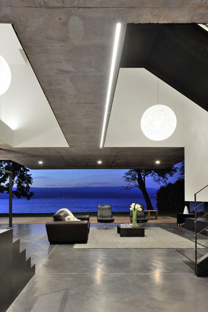 Pierre Minassian Maison minimaliste au bord du lac de Genève