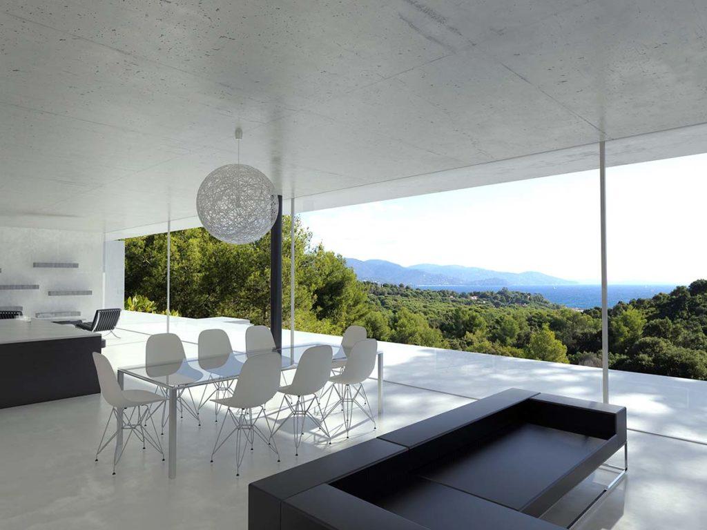 maison contemporaine dans le sud de la france a saint tropez