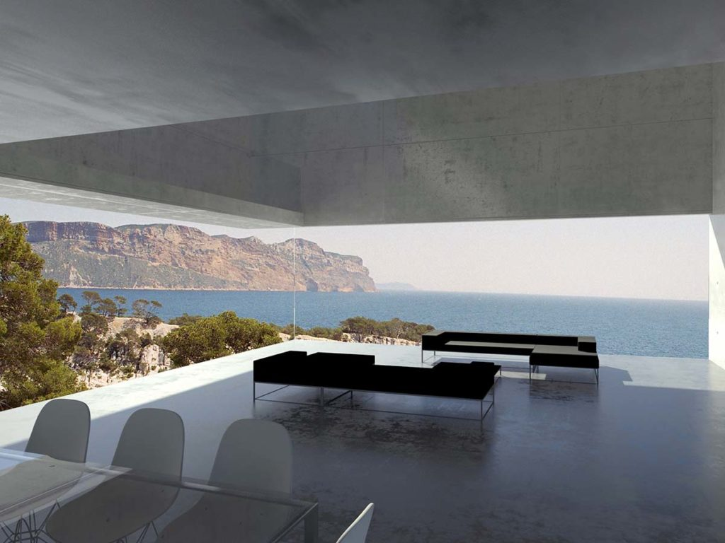 maison contemporaine en beton brut a cassis 83 pierre minassian