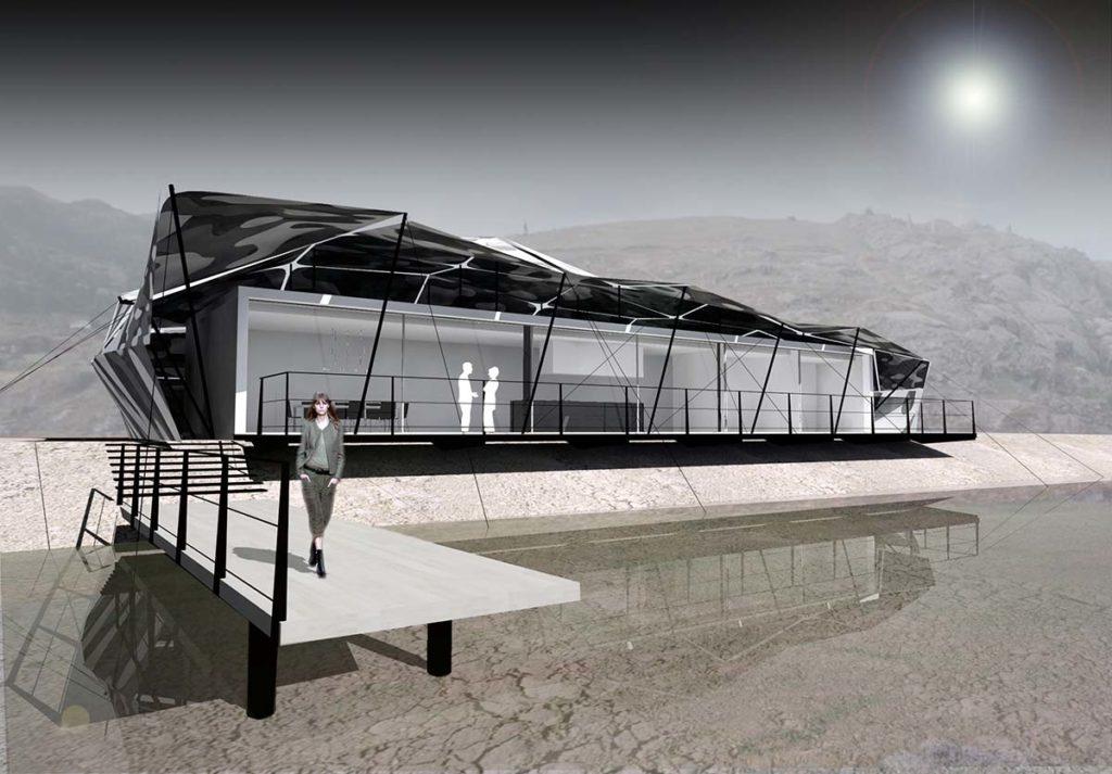 maison contemporaine vue sur lac au qatar maison cameleon