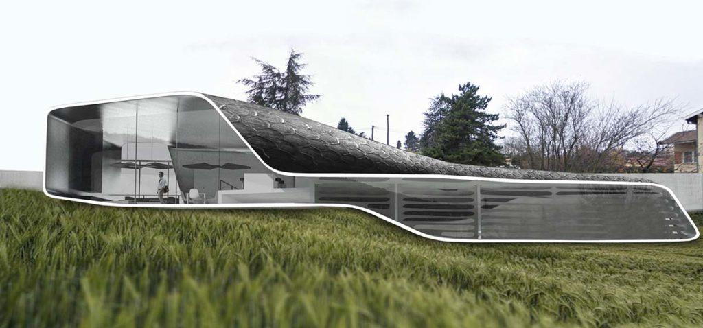 maison courbe en metal a saint cyr au mont d or lyon 69 maison h