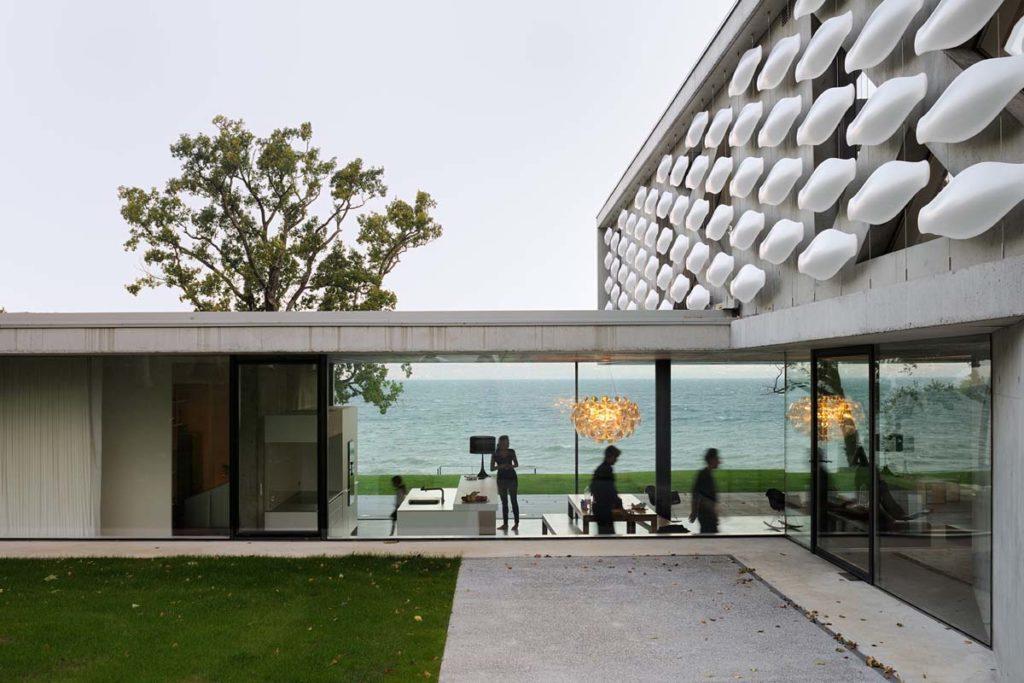 maisons contemporaines en beton brut 74