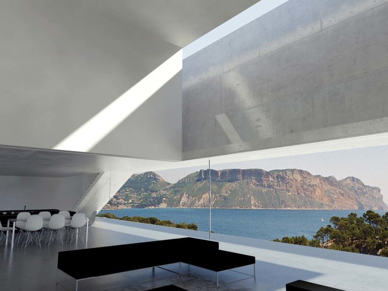maisons contempraines en beton brut a cassis 83
