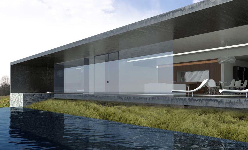 maisons contempraines en beton noir a lyon monts d or 69 maison f