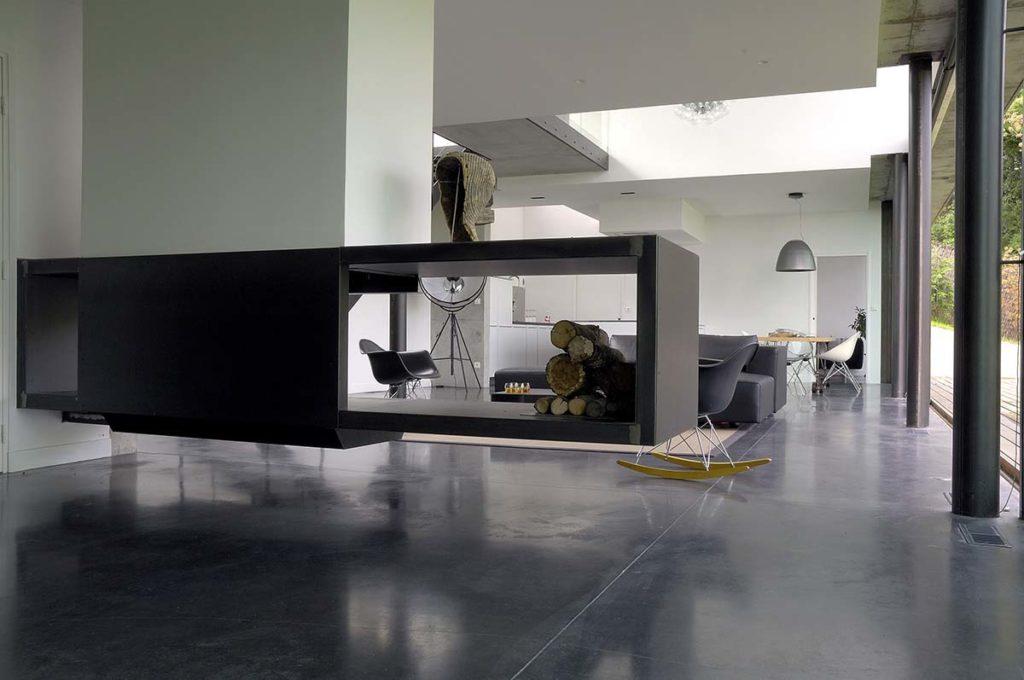 maison contemporaine en beton brut a limonest maison biscuit pierre minassian  architecte