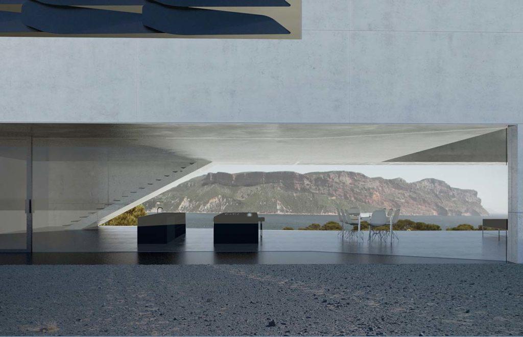 pierre minassian architecte maison contemporaine en beton brut a cassis 83